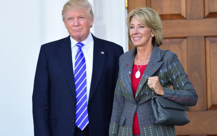 Liberal Media Falsely Claims Betsy DeVos Told Staffers to Resist Biden